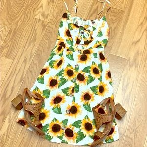NWOT Mimi Chica sunflower dress